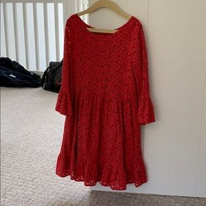 girls red christmas dress